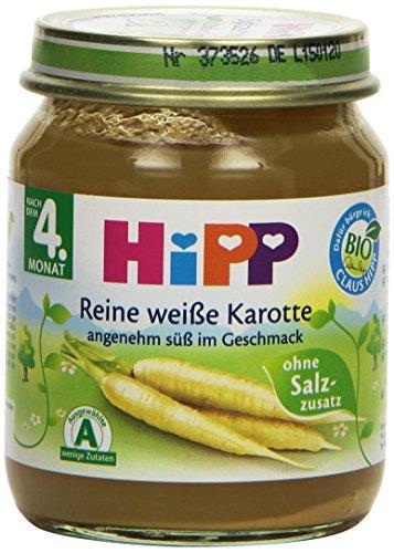 Hipp Reine weiße Karotte 125 g, 12er Pack (12 x 125 g) - Bio