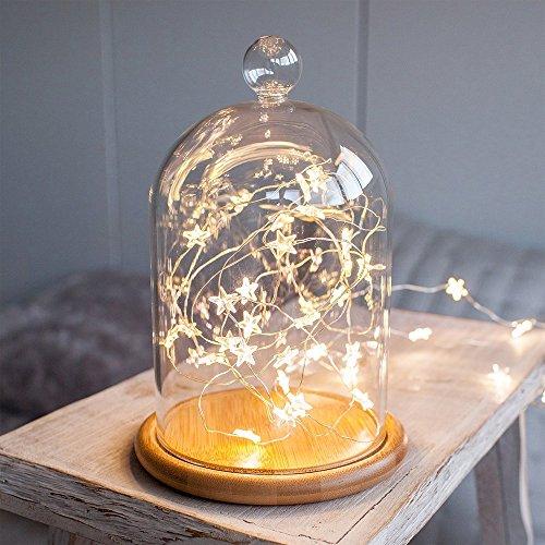 3m LED Luci della Stringa, 30pcs Stella Catena Luminosa per Decorazione di Natale Albero Illuminazione Bianco Caldo, per il Partito, Matrimonio, Casa Interna da Pingenaneer