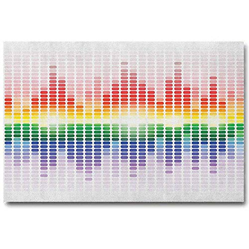 ScottDecor Music Inspirational Posters for classrooms Rainbow Digital Style Equalizer Amplifier Recording Equipment Night Club Disco Theme Boyfriend Gifts Multicolor L24 x H48 Inch