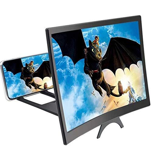 miuline Displaylupe, 12 Zoll (30,5 cm), Verstärker, Strahlungsschutz, Lupe, 3D-Handy, mit Halterung, Lupe, Displayverstärker, für alle Smartphones