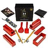 VITA KCHN Sushi Mold Kit - 8 Shapes Sushi Maker - Bonus Panda Chopstick Holders, Chopsticks in Pouch, Drawstring Bag for the Sushi Making Kit, a Guide with Easy Sushi Recipes & Video Tutorials