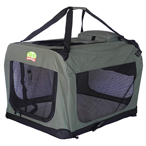 101mart Premium Soft-Sided Folding Pet Tent | Portable Pet Crate for Home and On The Go | Made from Heavy-Duty Water-Resistant Canvas Fabric | Perfect for Indoor and Outdoor Use
