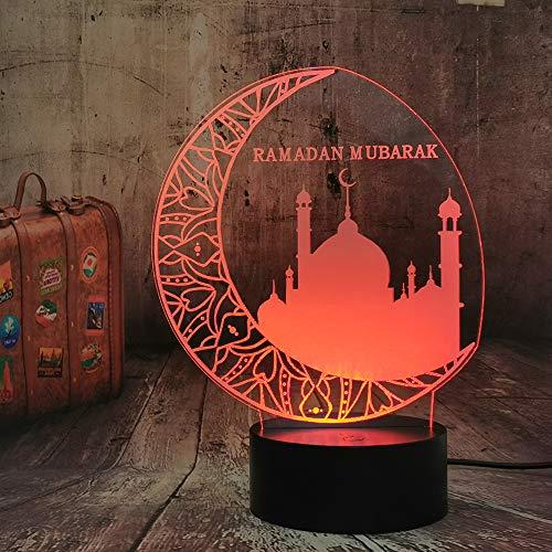 Ramadan Mubarak Islam Segen Beste Wünsche Grüße 3D Nachtlicht Segen Beste Wünsche Islam Grüße LED Schlaflampe Wohnkultur Geburtstag Weihnachtsspielzeug