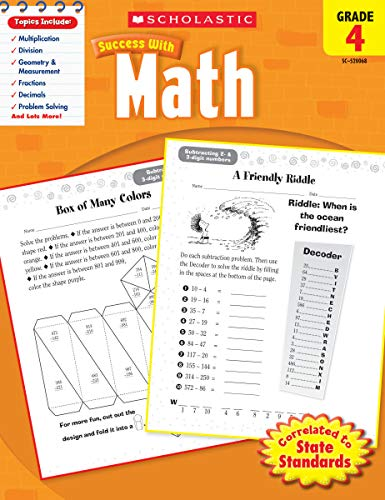 Scholastic Success with Math, Grade 4 (Scholastic Success with Workbooks: Math)
