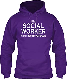teespring Men's Social Worker - Sweatshirt - Gildan 8Oz Heavy Blend Hoodie