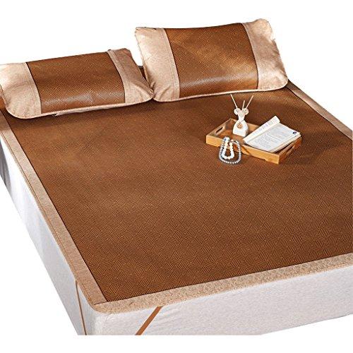 Plus épais siège de rotin de siège trois ensembles de lit de 1.8m d'été 1.5 mètres tapis pliable de soie de glace sûr et aucun glitch, approprié pour tous les tapis frais d'été d'âges/matelas de som