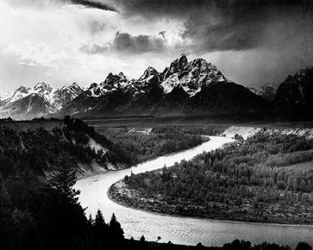 Ansel Adams – The Tetons - Snake River Grand Teton National Park Wyoming 1941 Kunstdruck (60,96 x 76,20 cm)