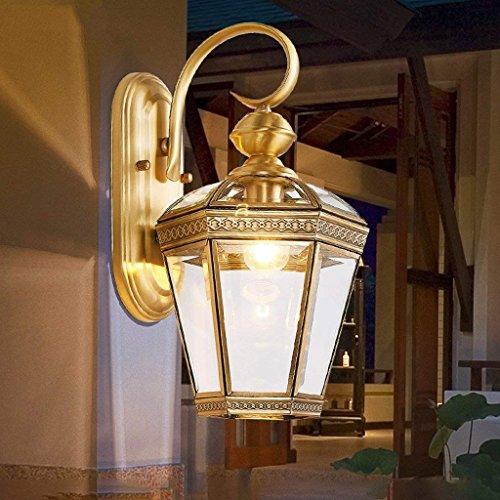 DSJ Europese wandlamp buiten Waterdichte roest-koperlamp Verlichte hotel-Corridor-lampen-Landhuis-gang-balkonlampen, klein