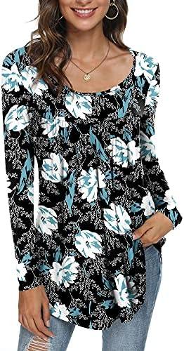 CATHY Women's Casual Long Sleeve Ruffle...