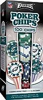 MasterPieces NFL Philadelphia Eagles Poker Chips, 100 Piece