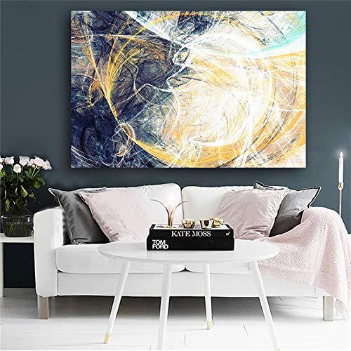 zgldx73 Pintura de línea geométrica para Pintura de decoración de Sala de estar50x70cm sin Marco