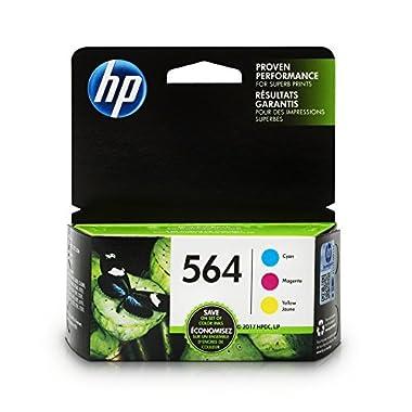 HP 564 Ink Cartridges: Cyan, Magenta & Yellow, 3 Ink Cartridges (CB318WN,  CB319WN, CB320WN) for HP Deskjet 3520 3521 3522 3526 HP Officejet 4610 4620 4622 HP Photosmart: 5510 5512 5514 5515 5520 5525 6510 6512 6515 6520 6525 7510 7515 7520 7525 B8550 C6340 C6350 D7560 C510 B209 B210 C309 C310 C410 C510