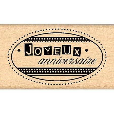 Florilèges Design FD109117 Tampon Scrapbooking Joyeux Anniversaire, Beige
