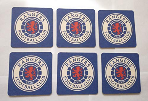 rangers fc colours set of 6 beer mat/coasters