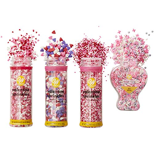 Wilton Valentine's Day Sprinkle Set, 4-Count
