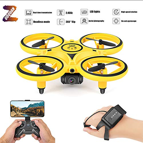 ZUOQUAN Mini Drone per Bambini, Funzione Lancia&Vola, Quadricottero con RC, Giroscopio A Sei Assi, Flip 3D, 3 velocità, Luce LED, modalità Senza Testa, Decollo/Atterraggio A Un Pulsante