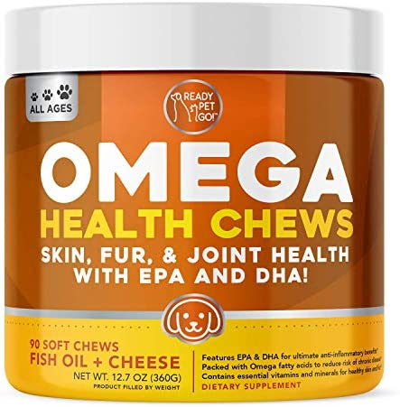 Ready Pet Go Omega 3 for Dogs Fish Oil for Dog Shedding Skin Allergy Itch Relief Mange and Hot product image