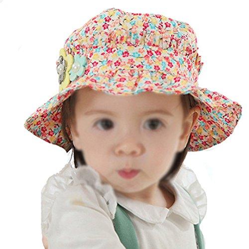 Millya Chapeau de soleil à bord pour enfant UPF 50+ avec mentonnière (M: 9 m – 24 m) - - taille unique