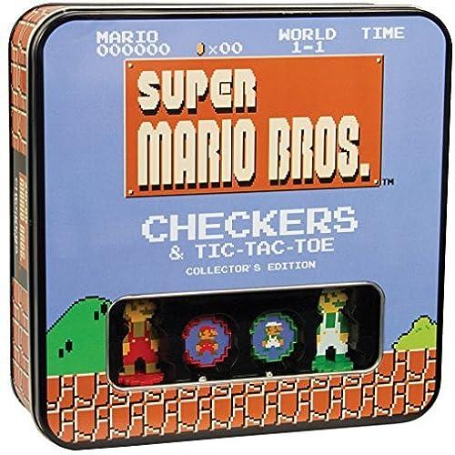 Super Mario 8bit Collector's Edition Checkers Tic-Tac-Toe Combo by Super Mario Bros.