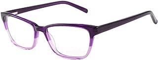 Anti Blue Light Glasses, Acetate Frame Anti Harmful Blue Ray Eyestrain Relieving (Purple)