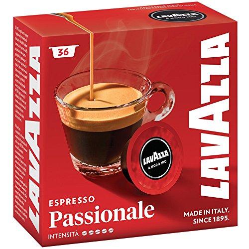 Lavazza A Modo Mio Passionale Coffee Capsules (2 Packs of 36)