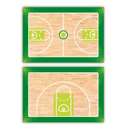 Haberdashery Online Pizarra Deportiva Doble Cara Táctica. Baloncesto. Tabla de Entrenamiento Personalizada de Equipo.