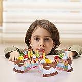 36 Pcs Cutting Birthday Chocolate Cake Toy Set- Pretend Play Birthday Party Chocolate