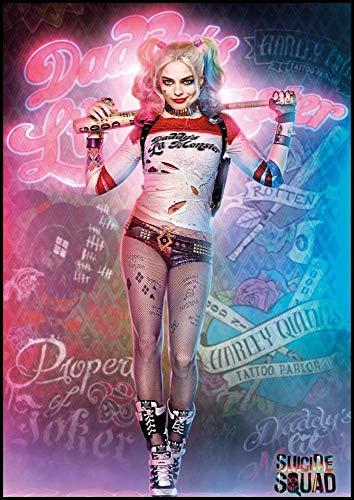 Puzzles para Adultos Puzzle de 1000 Piezas Juguete Educativo Intelectual de descompresión Divertido Juego Familiar para niños Adultos(50x75cm) Harley Quinn Harley Quinn