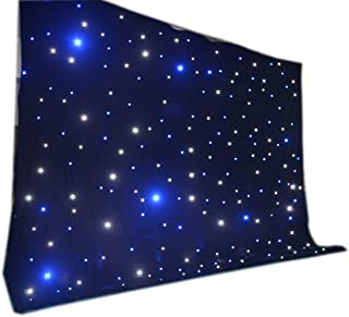 LED backdrop 3m x 4m Blue and white LED Star Curtain DMX Control for wedding event stage show
