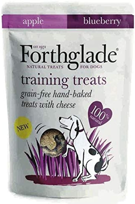 4X Forthglade Training Grain Free Treats Cheese, Apple & blueeberry 150g
