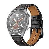 HDC AYC 22mm for Huawei Uhr GT2e / GT2 46mm Plum Blossom Loch Lederband (schwarz orange) (Color : Black Orange)