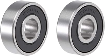 uxcell 608-2RS Deep Groove Ball Bearing 8x22x7mm Double Sealed ABEC-3 Bearings 2-Pack