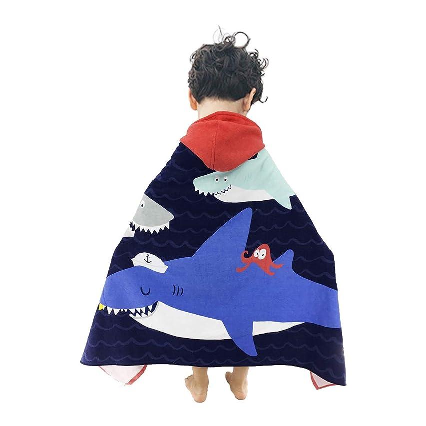 ケージ確認人気のArtown キッズ フード付き ポンチョ バスビーチタオル かわいいスイミングプール コットン100% ソフト 男の子 女の子用 one size