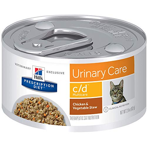 Hill's Prescription Diet c/d Multicare Urinary Care Chicken & Vegetable Stew Canned Cat Food, 2.9 Oz, 24-Pack Wet Food
