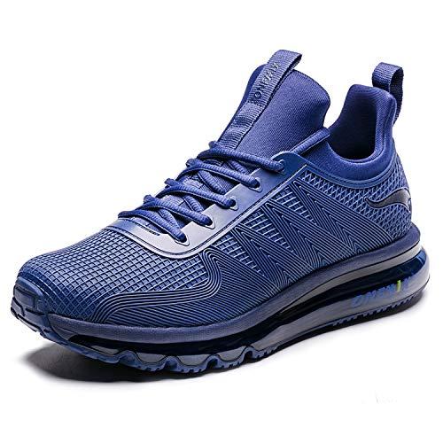 ONEMIX Laufschuhe Herren Leichte Sportschuhe mit Luftpolster Turnschuhe Fitness Schuhe Sneakers 1191 Blue 43EU