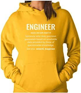 Tstars - Engineer Definition Noun Gifts Funny Women Hoodie
