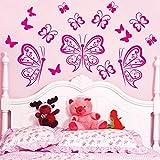 nkfrjz Pared de Vinilo de Mariposas Decoración para el hogar Niños Apper de Pared Etiqueta de la Pared