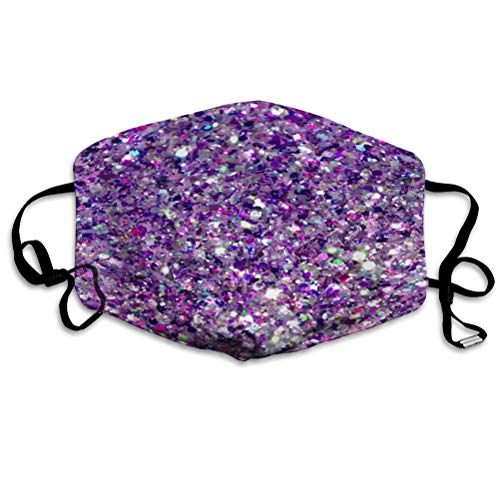 Printed Mouth cover For Adult Kids Violet and purple sparkles purple glitter One Size