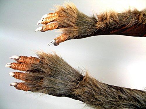 Generique - Werwolf-Klauen Kostümzubehör braun