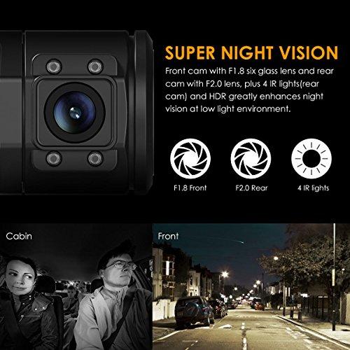 Vantrue N2 Pro Dual Dashcam full HD 1080P Auto Kamera - 3