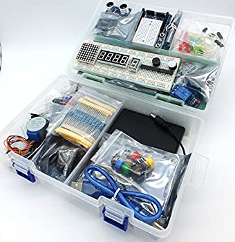 jdhlabstech MEGA 2560 Starter Kit Ultra  100% Arduino IDE Compatible  w/Battery Holder WiFi Bluetooth Sensors Modules Resistor kit and Components  no Supply
