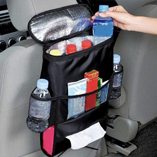Auto-Organizer, Auto-Rücksitz-Organizer, Aufbewahrungstasche, großes Fassungsvermögen, Autositz-Rückenlehnenschutz, Kick-Matten mit Kühltasche, Taschentuchbox-Halter und mehreren Taschen
