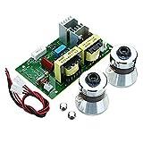 LaDicha Scheda Driver Dell'Alimentatore per La Pulizia Ad Ultrasuoni AC 220V 60W-100W con Trasduttori 2Pcs 50W 40Khz