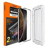 Spigen Glas.tR EZ Fit Panzerglas kompatibel mit iPhone 11, iPhone XR, 2 Stück, Volle Abdeckung, Kratzfest, 9H Festigkeit Schutzfolie