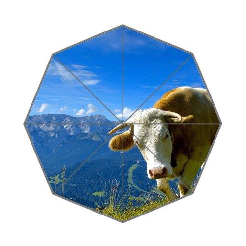 Flipped zomer Y grootste vee ras koeien aangepaste kunst prints paraplu
