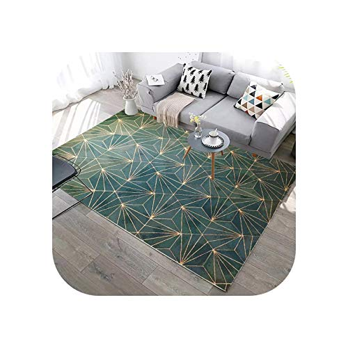 Rugs for Living Room | Abstract Geometric Lines Green Carpet for Living Room Sofa Coffee Table Marble Print Rug Blue Washable Floor Mat Room Decor-21-800x1200mm
