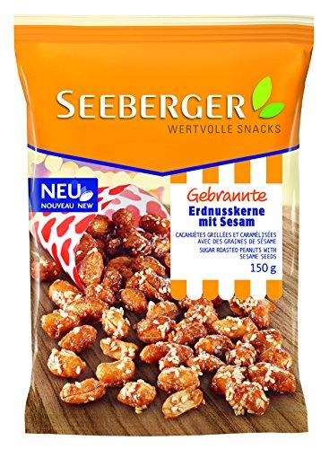 Seeberger Gebrannte Erdnusskerne mit Sesam, 6er Pack (6 x 150 g)
