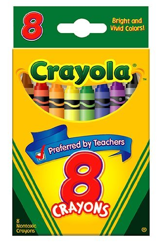 Classic Color Pack Crayons, 8 Colors/Box, Sold as 1 Box