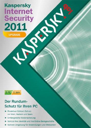 Kaspersky internet security 2011 - Mise à jour (5 postes, 1 an) [import allemand]