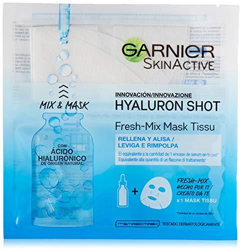 Garnier Skinactive Maschera in Tessuto Fresh Mix Arricchita con Acido Ialuronico, Pelle Levigata e Rimpolpata